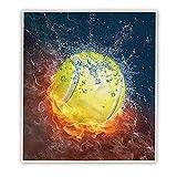 Irisbell Tennis Blanket Thicked Soft Fleece Sherpa Throw Blankets - Tennis, 60'' x 50''