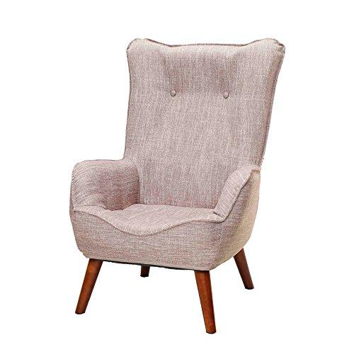 ドウシシャ高座椅子1人掛けソファーなごみハイバックチェア肘付き座椅子コンパクト収納可ベージュNHBC-BE
