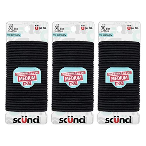 Scunci Effortless Beauty Large No-damage Elastics, 4 MM (90 pieces)