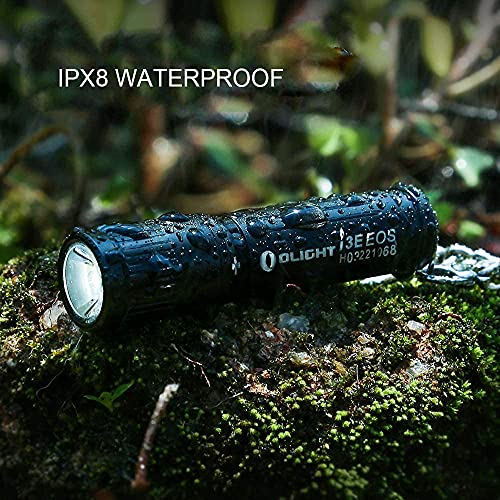 Olight i3E EOS EDC Key Ring LED Torch 90 Lumens Single AAA EDC Flashlight Compact Keychain Torches Pocket Light for Night, Camping
