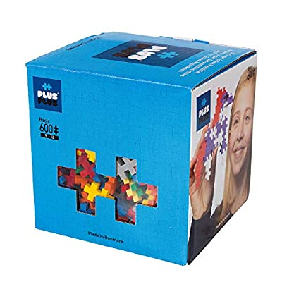 PLUS PLUS - Open Play Set - 600 Piece - Basic Color Mix, Construction Building Stem Toy, Interlocking Mini Puzzle Blocks for Kids
