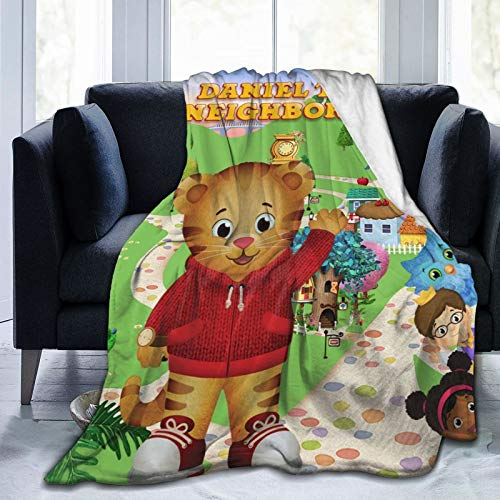 Bestrgi Daily 3D Printed Blanket D-a-n-ie-l Cartoon Ti-g-er Anime Soft Home Sofa Fleece Throw Blanket Adult Kids Bed Rug Gift for Bedroom Livingroom Office Couch 50'x40'