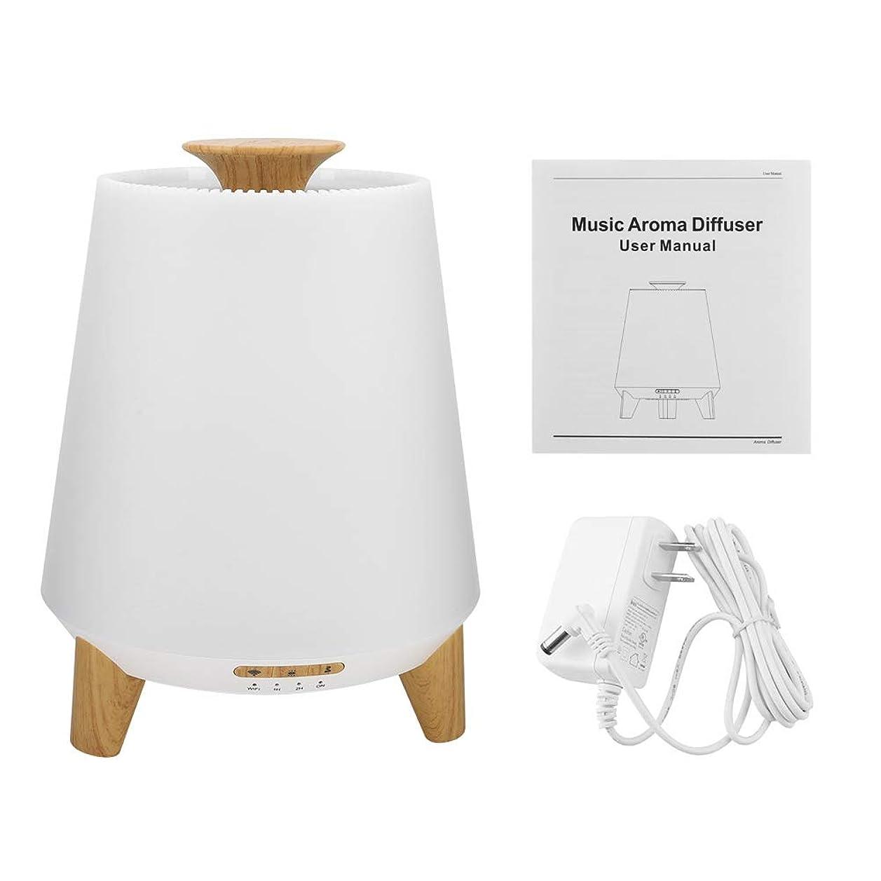 戦う数学的な草加湿器 アロマディフューザー 音楽プレーヤー 3 in 1 7色LEDライト クールミスト WIFI スマート 超音波 アロマ エッセンシャルオイル 互換性用 300ml(#1)
