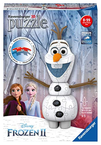 Ravensburger 11157 Disney Frozen 2, Olaf 54 Piece Shaped 3D Jigsaw Puzzle for Kids Age 6 Years and up,