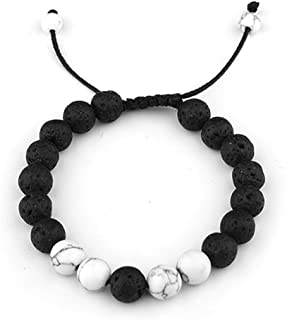 SULYSI Adjustable Lava Rock Stone Essential Oil Anxiety Diffuser Bracelet Unisex Turquoise - Meditation,Relax,Healing,Aromatherapy
