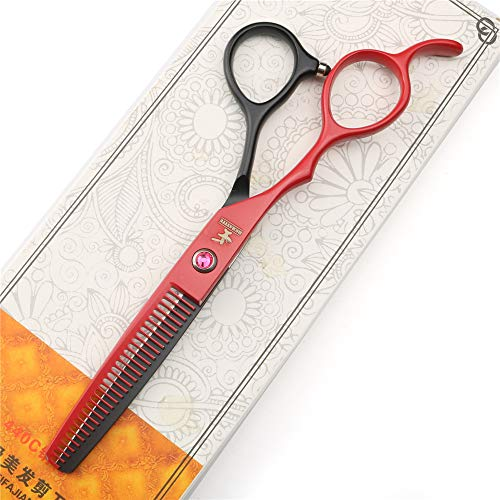 HEMATITE Tijeras de peluquería para mano izquierda, juego de tijeras de peluquería de 5.5 pulgadas y 6 pulgadas, tijeras de barbería de acero japonés 440C (tijeras de entresacar de 5.5 pulgadas).