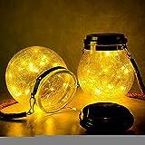 wangpu Nuevo tipo LED luces solares al aire libre Mason vidrio...
