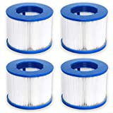 WAVE Hot Tub Filter Cartridges for Older Models | Replacement Spa Filters for Hot Tubs Purchased in 2016-2019 (Pack of 4)