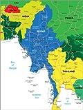 Posterlounge Hartschaumbild 60 x 80 cm: Burma von Editors