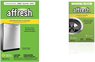 Affresh Dishwasher Cleaner | Formulated to Clean Inside All Machine Models, 6 Tablets & Garbage Disposal Cleaner | Removes Odor Causing Residues, U.S. EPA Safer Choice Certified, 3 Tablets