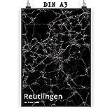 Mr. & Mrs. Panda Poster DIN A3 Stadt Reutlingen Stadt Black