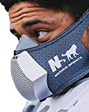 NS NESIAN SPORTS Hex (Hypoxic Exercise) Mask - Altitude Breathing Simulation for high Performance Sport and Fitness Training (Dark Gray)