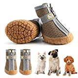 RbyVaet Dog Booties Breathable Dog Shoes for Hot Pavement, Summer Dog Hiking Boots for Small Medium Dogs 4PCS/Set