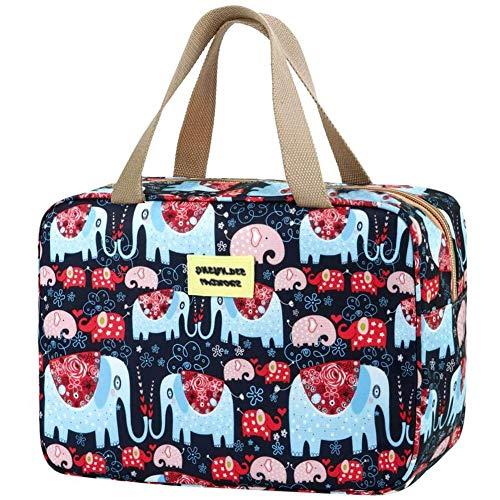Damen Kosmetiktasche, Make-up Aufbewahrungstasche, große Kosmetiktasche, Aufbewahrungsisolationstasche, tragbare Reisetasche, Elefantenmuster.