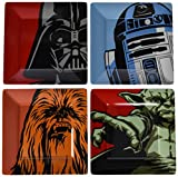 Star Wars- Packs de Platos (4 Unidades), Multicolor, 25x25x7 cm (Underground Toys SW00877)