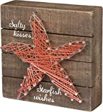 Primitives by Kathy Starfish Wishes Beach Sign, 6