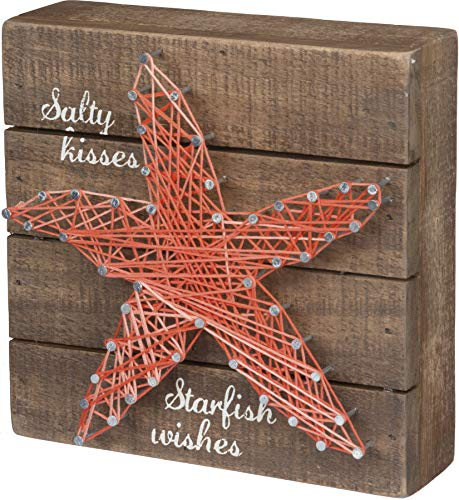 Primitives by Kathy Starfish Wishes Beach Sign, 6' x 6'