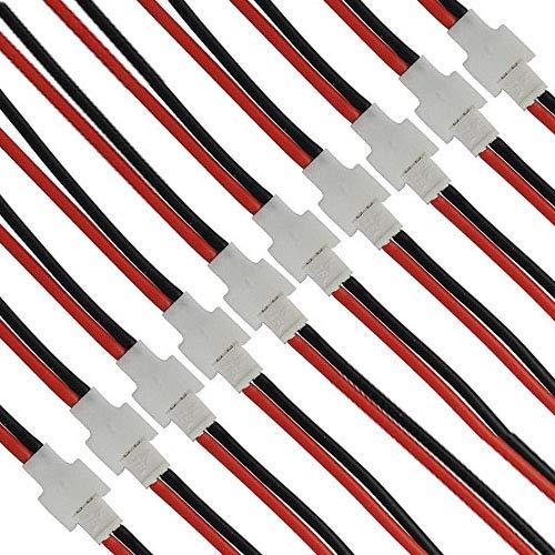 10 paar SYMA X5C X5A X5SW 2.0mm 2-pins batterij mannelijke vrouwelijke connector met draad