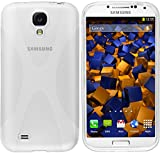 mumbi - Carcasa para Samsung Galaxy S4 (Poliuretano termoplástico), Color Blanco Transparente S4 Hülle transp. Weiss Blanco