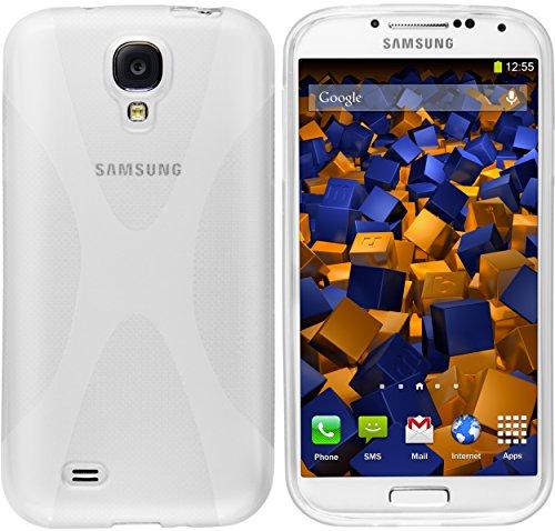 mumbi Hülle kompatibel mit Samsung Galaxy S4 Handy Case Handyhülle, transparent weiss