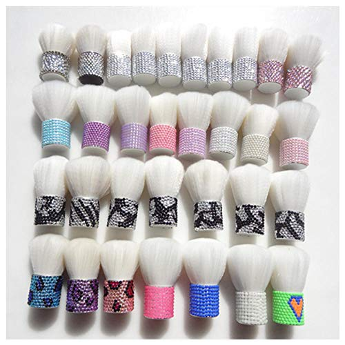 MPKHNM 5-piece makeup brush pony haircut beauty short mini portable fashion stickers diamond cover brush