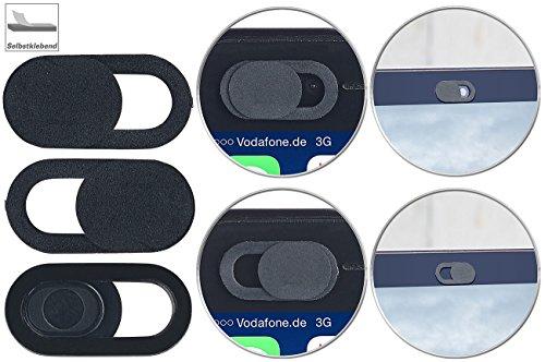 PEARL Kamera Abdeckung: 3er-Set Webcam-Abdeckung für Laptops, iMacs & MacBooks, selbstklebend (Laptop Kamera Abdeckung)