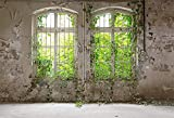 YongFoto 3x2m Vinilo Fondo de fotografía Planta Industrial arruinada Vieja abandonada Telón de Fondo de Fotografía Estudio de Foto Studio