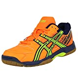 ASICS Gel Squad Chaussures de Handball Homme Orange Non Marking