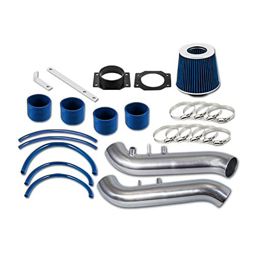R&L Racing Blue Short Ram Air Intake Kit + Filter For Nissan 90-96 300ZX
