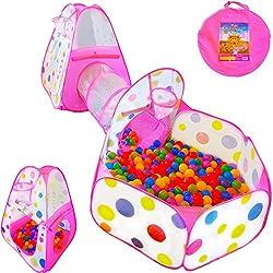 Image of Playz 3pc Kids Play Tent...: Bestviewsreviews