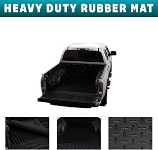 Velocity Concepts 1999-2007 Chevy Silverado 1500/1500 HD / 2500/2500 HD / 3500 Rubber Diamond Floor Mat Carpet   Black Fleetside 8 Ft Long Truck Bed