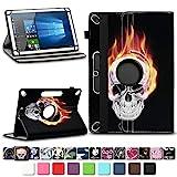 NAmobile Schutzhülle für Xido Z120 Z110 X111 X110 Tablet Tasche aus hochwertigem Kunstleder Universal 10.1 Hülle Standfunktion 360 Drehbar, Farben:Motiv 9