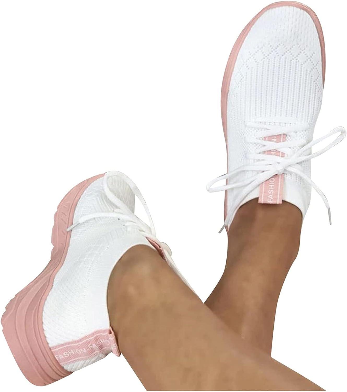 Women's Heighten Sneakers, Slip On Platform Shoes Low Tops Breathable Walking Shoes Comfortable Ladies Sport Shoes
