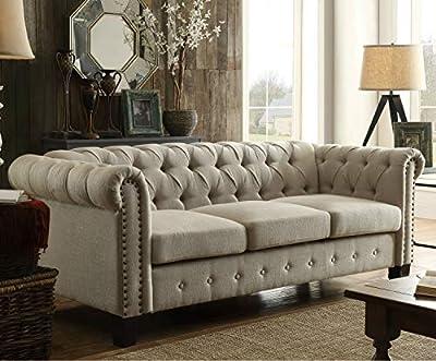 DG Casa Southampton Tufted Living Room Sofa Couch