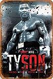 Cimily Iron Mike Tyson Boxing Record Zinn Retro Zeichen