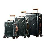 Eminent Gold Set di valigie Crossover 3pcs Valigie rigide 4 Ruote doppie silenziose Policarbonato & Telaio in alluminio Lucchetto TSA Grafite arancione