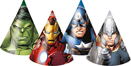 Marvel Avengers Assemble Party Hüte, 6Stück