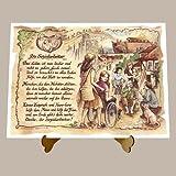 Die Staffelei Geschenk Karte Berufsbild Sozialarbeiter Sozialassistent Zeichnung mit Gedicht, 20 x 15 cm mit Aufsteller