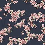 Qualitativ hochwertiger GOTS Sweatshirtstoff mit Blumen auf