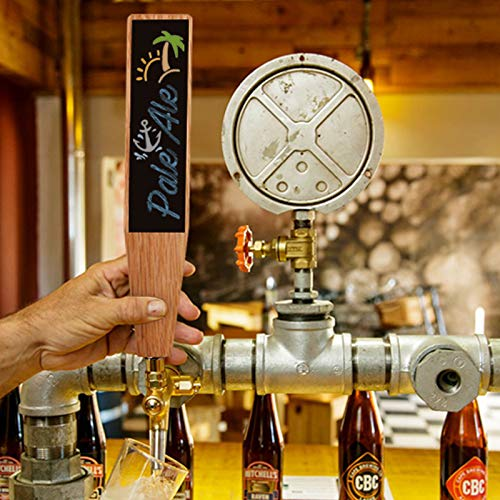 """Fanfoobi Large Wooden Chalkboard Kegerator Tap Handles, Oak DIY Craft Beer Tap Handles Tall 10"""",for All Beer-Lovers in Tall Style"""
