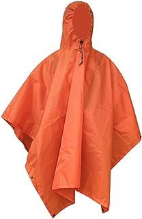 Kasiqi Chubasquero multifuncional, 3 en 1 de camuflaje para montañismo, gruesa a prueba de humedad para exterior (naranja)