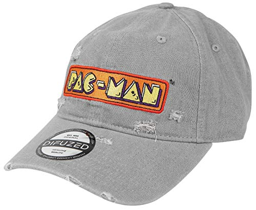 Pac-Man Emblem Unisex Cap grau one Size 100% Baumwolle Fan-Merch, Gaming, Retrogaming