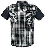 Guns N' Roses Top Hat Skull Hombre Camisa Manga Corta Negro/Gris XXL, 100% algodón, Regular
