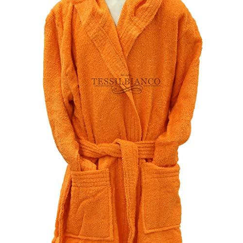 Pretti - accappatoio bambino in microspugna con cappuccio pretti arancione - tg.3 - 7-8 anni