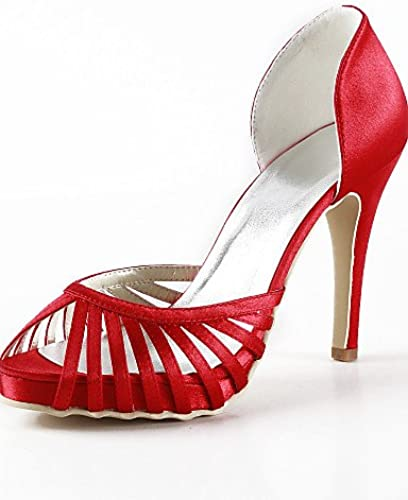 BGYHU Ggx femme femme Chaussures Soie Stiletto Talon talons Peep Toe talons Mariage fête & Soir Robejaune rose violet rouge  sports chauds