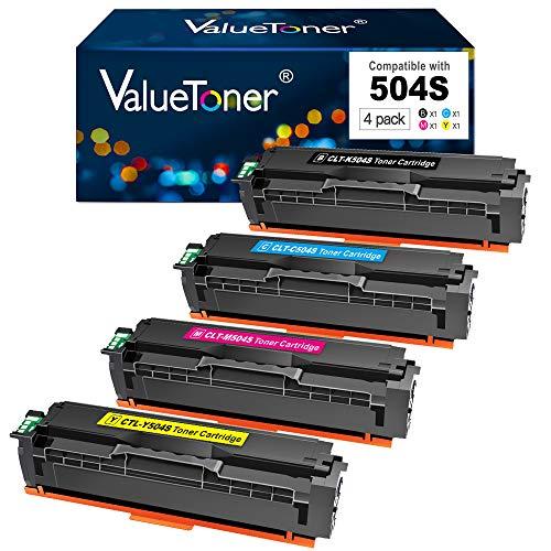 Valuetoner Compatible Toner Cartridge Replacement for Samsung CLT 504S CLT-504S CLT-K504S for Xpress SL-C1860fw SL-C1810w CLX-4195fw CLP-415nw Printer (Black,Cyan,Magenta,Yellow,4 Pack)