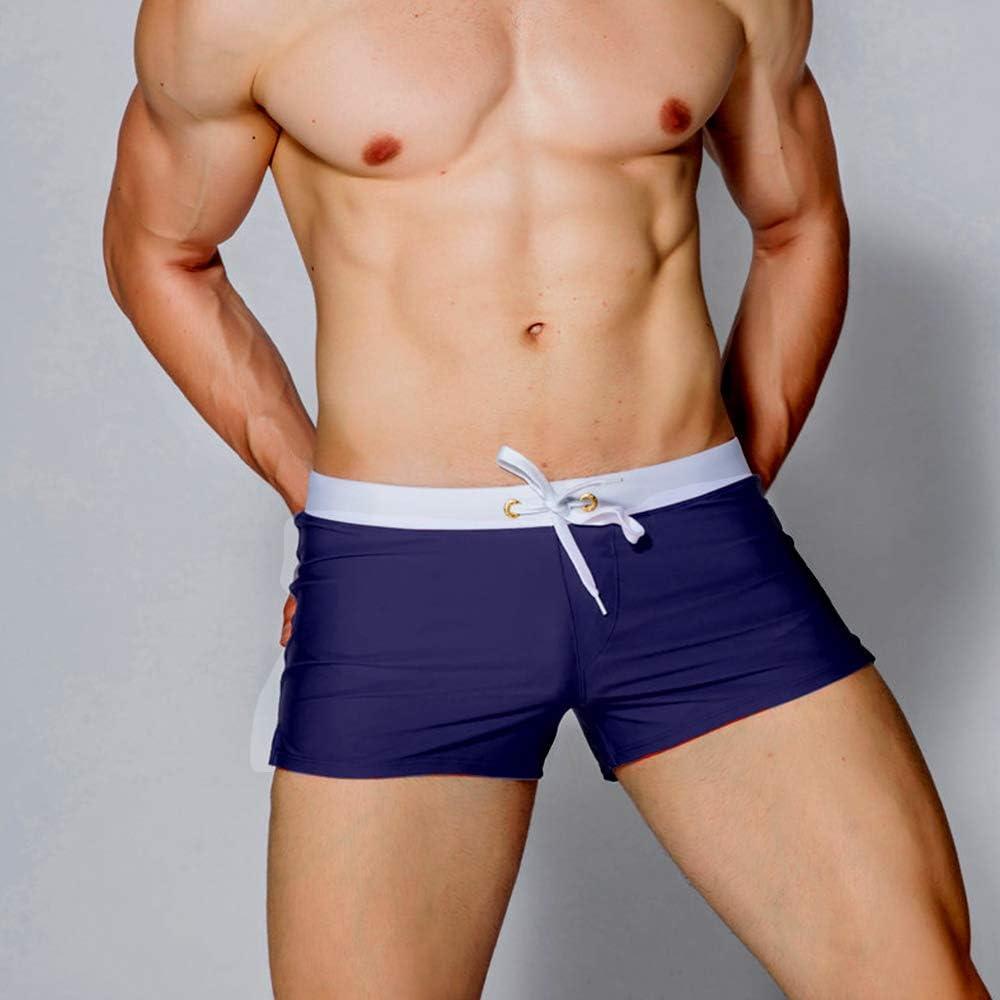 Coco BLVD Mens Beach Swimming Trunks Boxer Brief Swimsuit Swim Underwear Boardshorts with Pocket