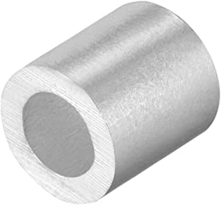 Wire Leader Oval Aluminum Crimp Sleeves 250 LBS Test 1.7X18MM .059 ID. steel-charms 100 XL