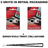 SanDisk Cruzer Fit 16GB (2 Pack) = 32GB SDCZ33-016G USB 2.0 Flash Drive Jump Drive Pen Drive SDCZ33-016G - 16GB x 2 = 32GB