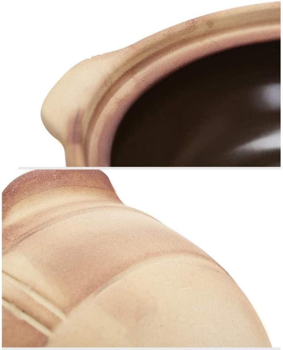 Casserole Traditionnelle en céramique Non émaillée résistante à la Chaleur marmite en Argile à Cuisson Lente marmite antiadhésive Casserole Saine X 0.75l Well F
